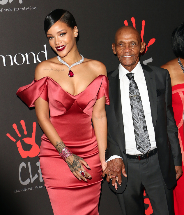 Rihanna and her grandfather