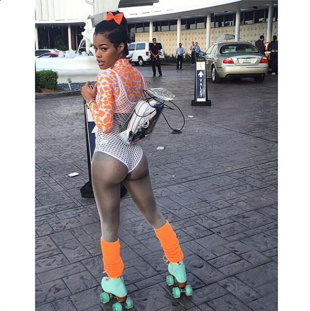 Teyana showing off her ASSets