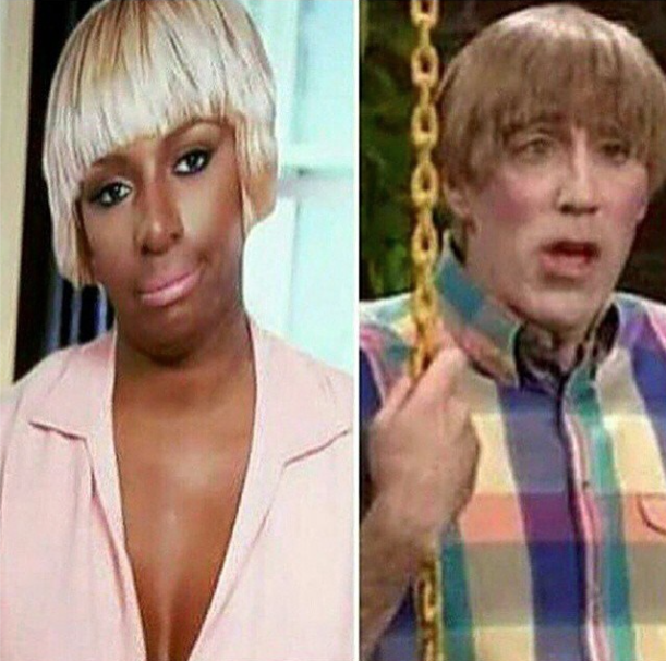 Side-by-side: Nene and Stuart from Mad TV