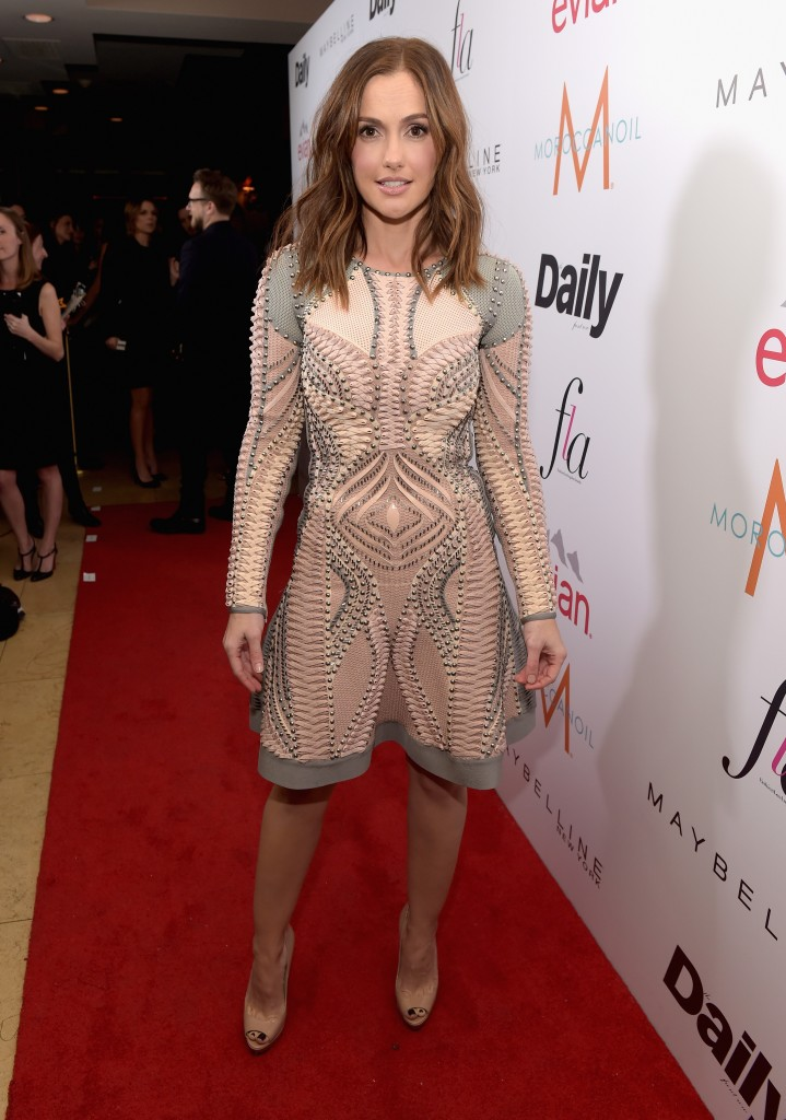 """WEST HOLLYWOOD, CA - JANUARY 22:  Actress Minka Kelly attends The DAILY FRONT ROW """"Fashion Los Angeles Awards"""" Show at Sunset Tower on January 22, 2015 in West Hollywood, California.  (Photo by Jason Kempin/Getty Images for the DAILY FRONT ROW)"""