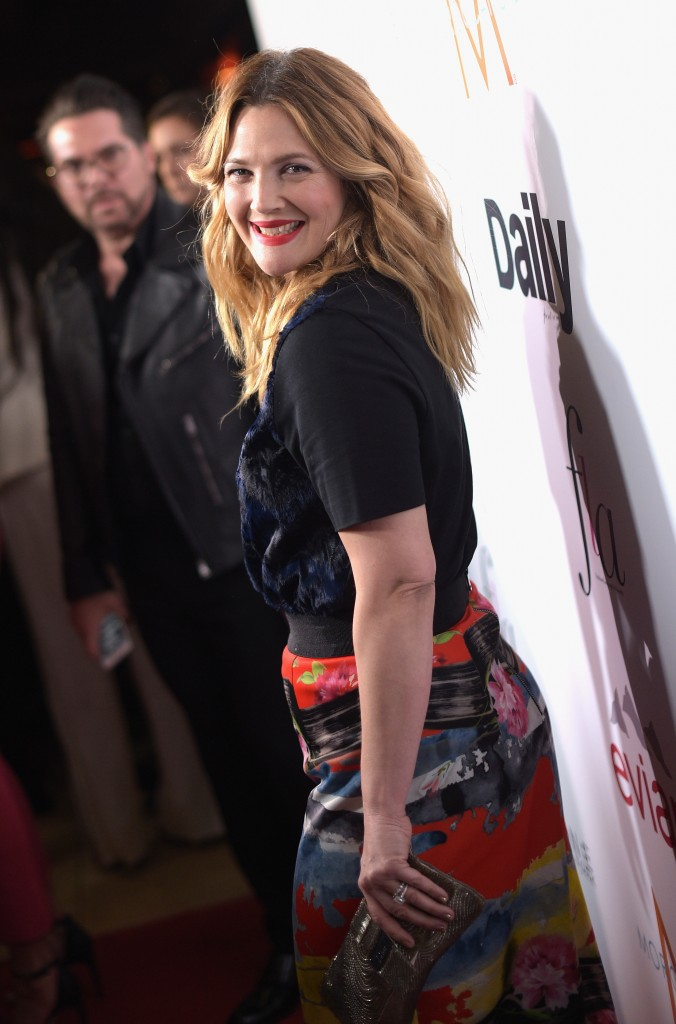 """WEST HOLLYWOOD, CA - JANUARY 22:  Actress Drew Barrymore attends The DAILY FRONT ROW """"Fashion Los Angeles Awards"""" Show at Sunset Tower on January 22, 2015 in West Hollywood, California.  (Photo by Jason Kempin/Getty Images for the DAILY FRONT ROW)"""
