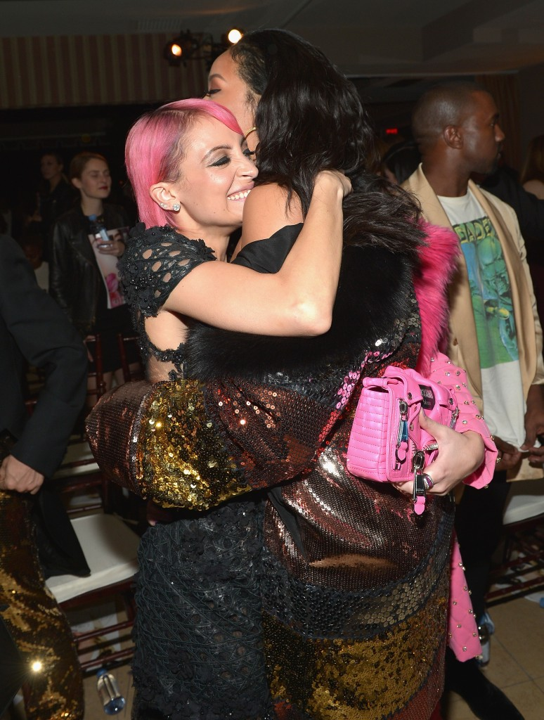 """WEST HOLLYWOOD, CA - JANUARY 22:  Designer Nicole Richie (L) and recording artist Rihanna attend The DAILY FRONT ROW """"Fashion Los Angeles Awards"""" Show at Sunset Tower on January 22, 2015 in West Hollywood, California.  (Photo by Charley Gallay/Getty Images for the DAILY FRONT ROW)"""