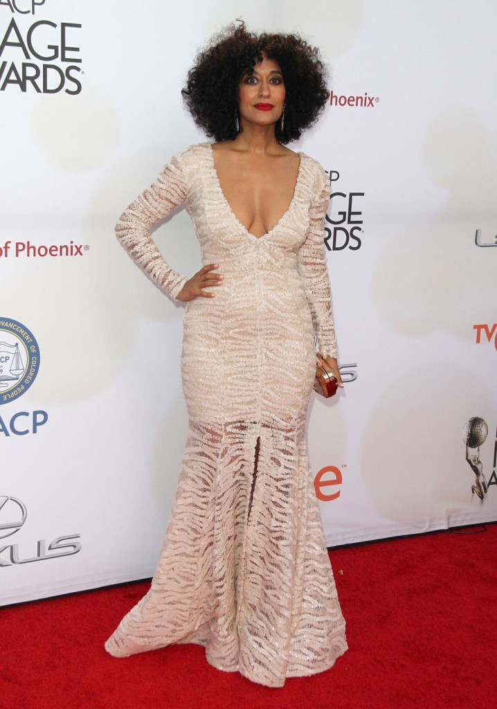 Tracee Ellis Ross attends The 46th Annual NAACP Image Awards-Arrivals in LA