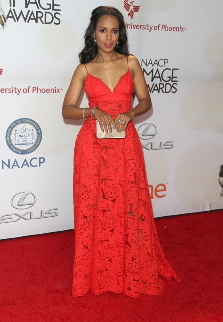 Kerry Washington attends The 46th Annual NAACP Image Awards-Arrivals in LA