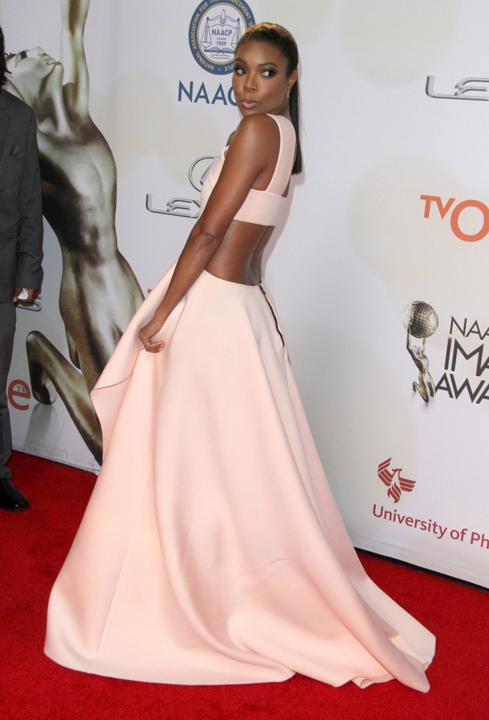 Gabrielle Union attends The 46th Annual NAACP Image Awards-Arrivals in LA