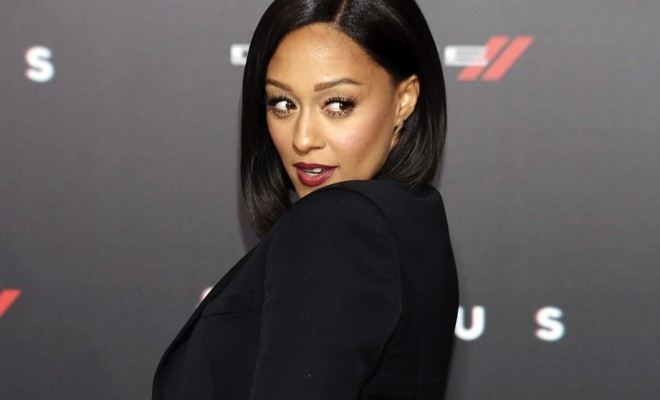 Tia Mowry at the Warner Bros. Pictures' 'Focus' premiere at TCL Chinese Theatre in Hollywood