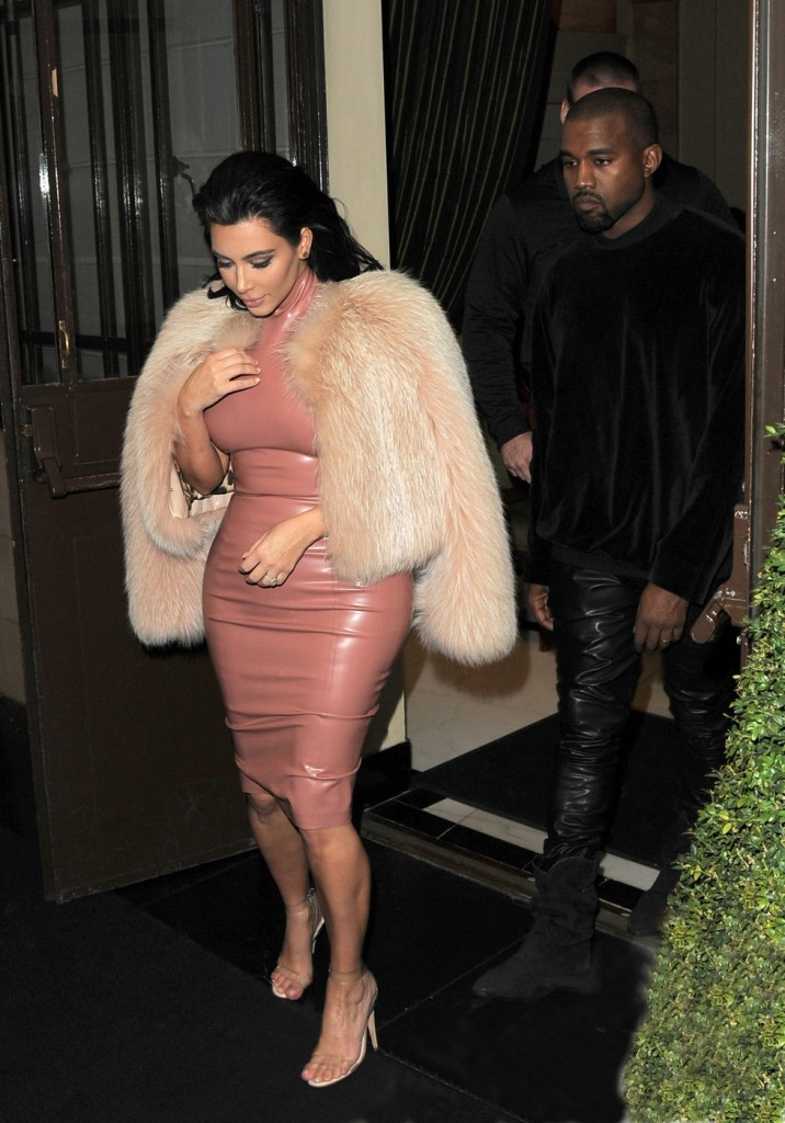 Kim Kardashian and Kayne West seen at Annabel's Private Members Club in London