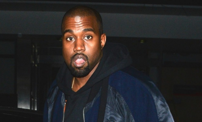 Kanye West seen at a studio in London