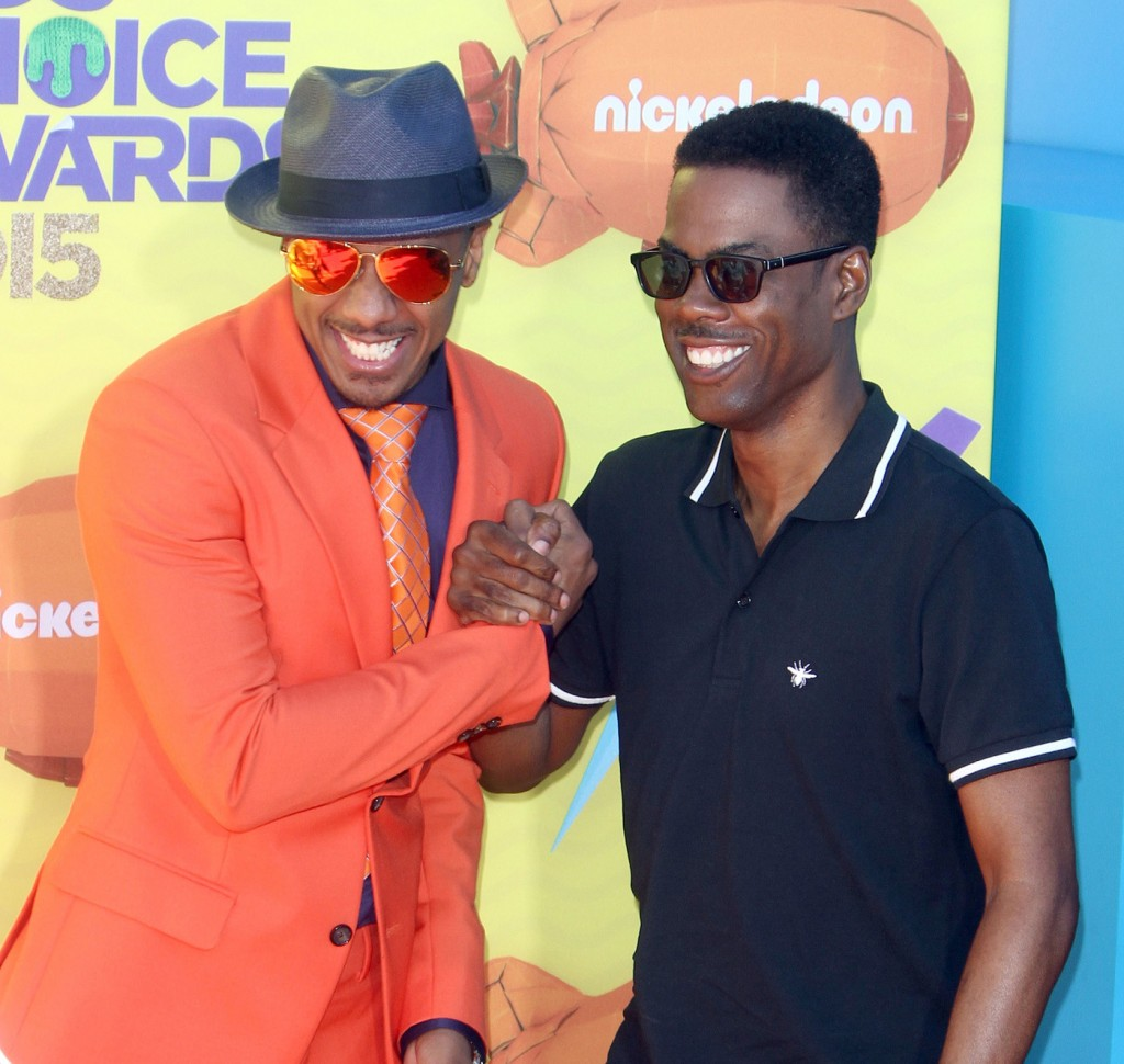 Nick Cannon, Chris Rock attends The 28th Annual Kid's Choice Awards in LA