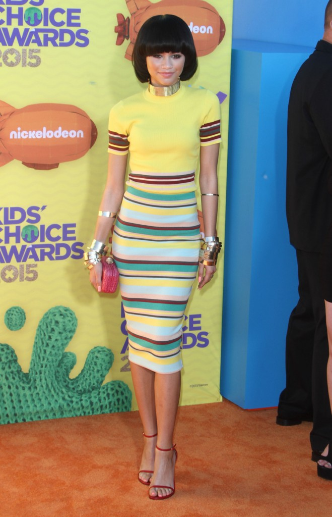 Zendaya Coleman attends The 28th Annual Kid's Choice Awards in LA