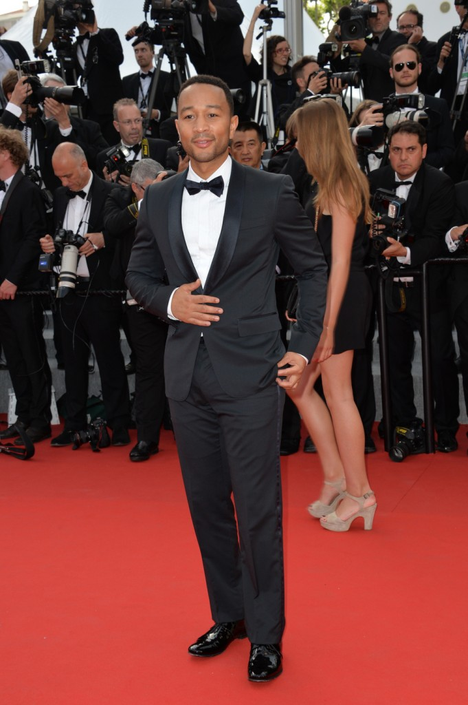 John Legend at the opening ceremony and premiere of 'La Tete Haute' or 'Standing Tall' during the 68th annual Cannes Film Festival in Cannes.