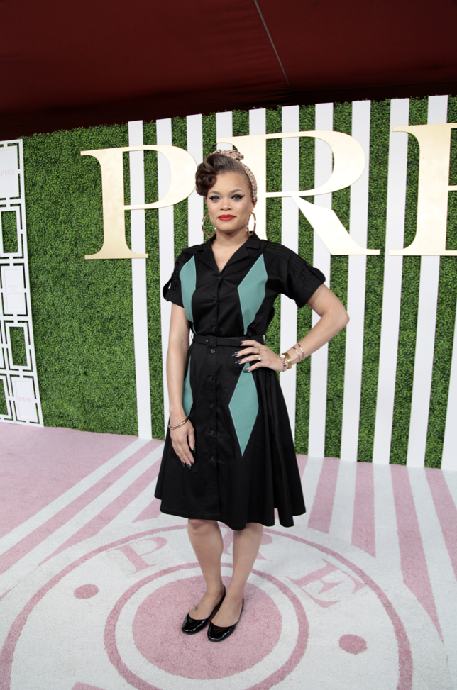 Andra Day at the Debra Lee PRE Party