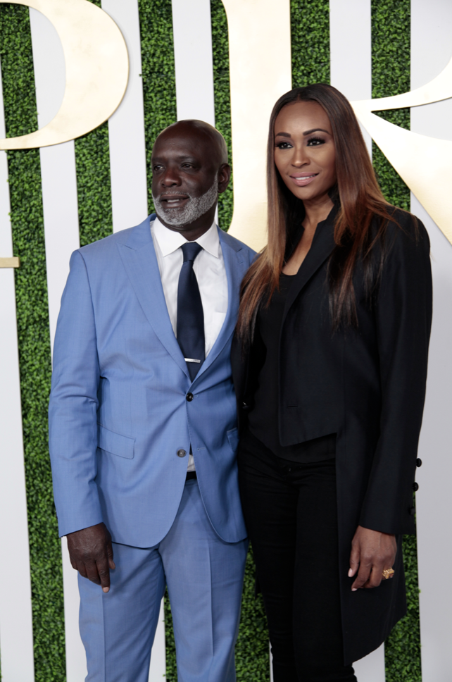 Peter Thomas and Cynthia Bailey at the Debra Lee PRE Party