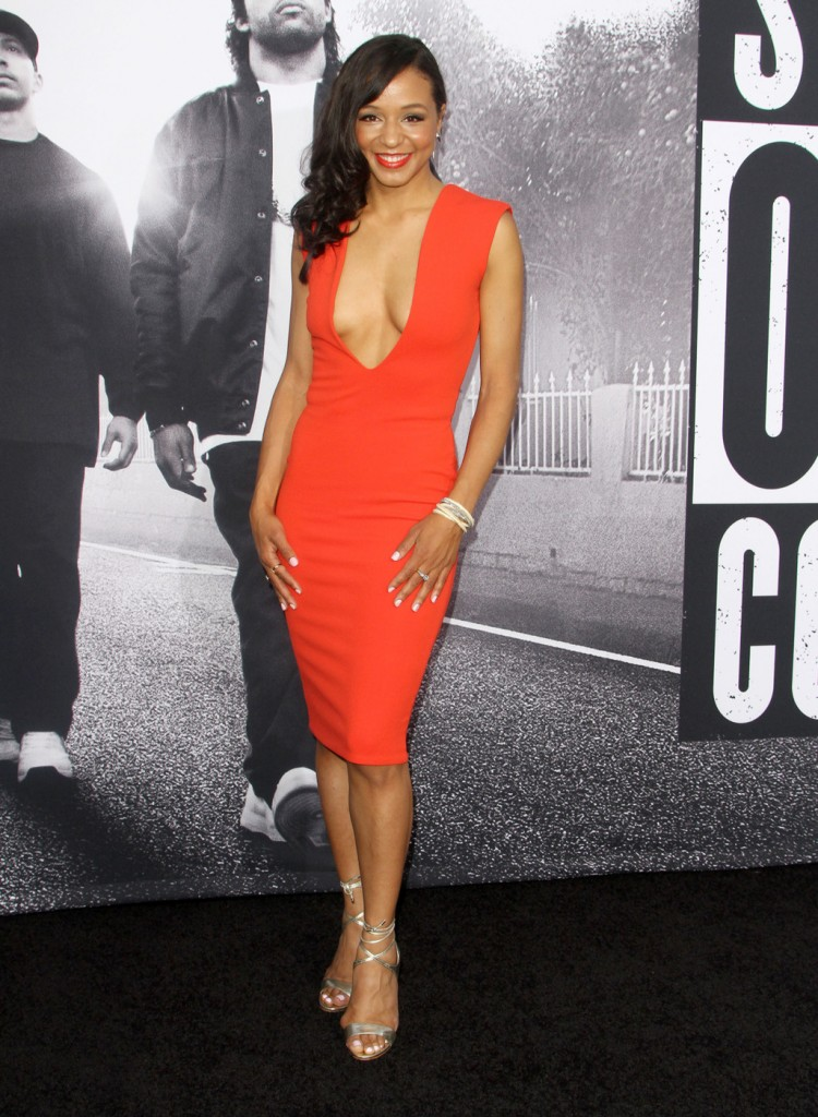 Carra Patterson attends the premiere of 'Straight Outta Compton' in LA