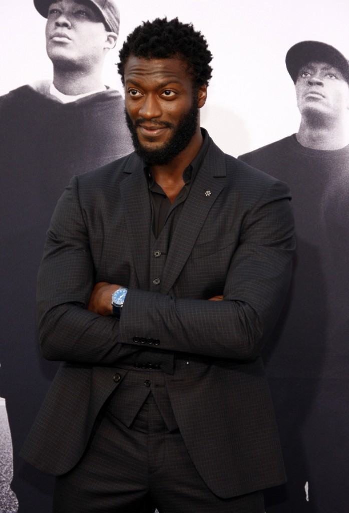 Aldis Hodge at the Los Angeles premiere of 'Straight Outta Compton'