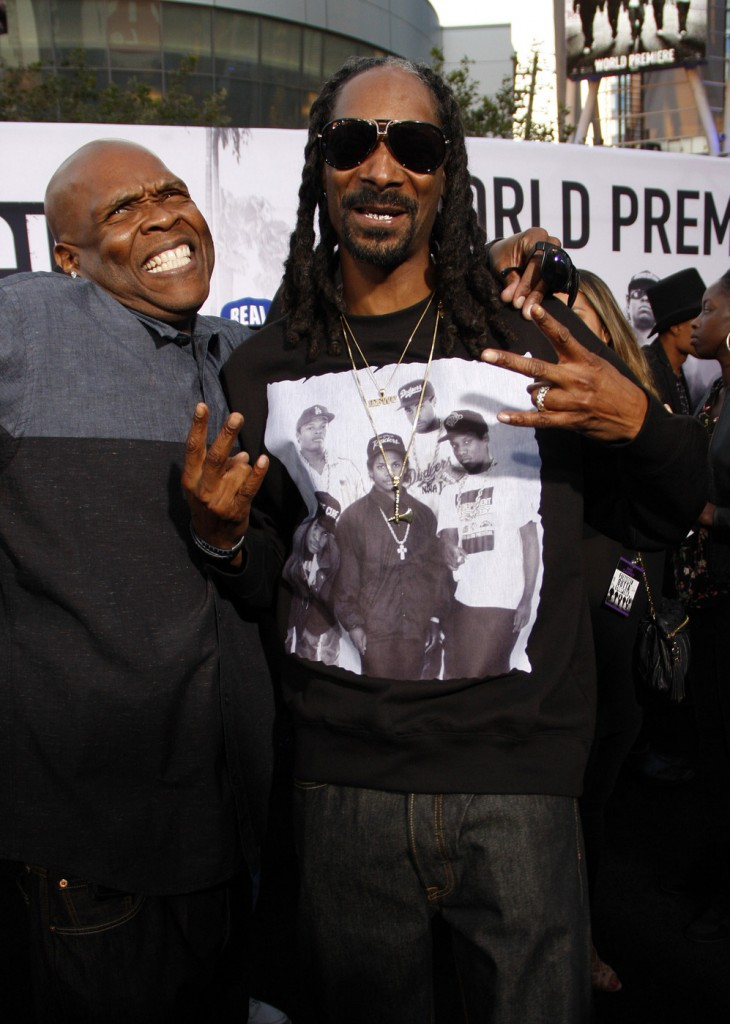 Snoop Dogg and Big Boi at the Los Angeles premiere of 'Straight Outta Compton'