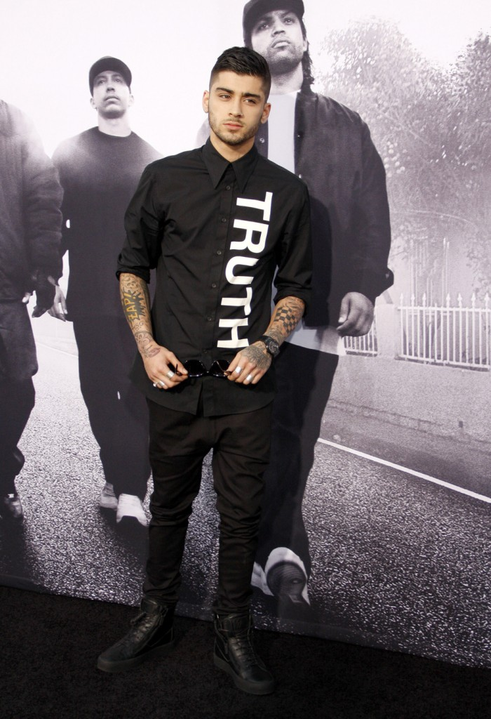 Zayn Malik at the Los Angeles premiere of 'Straight Outta Compton'