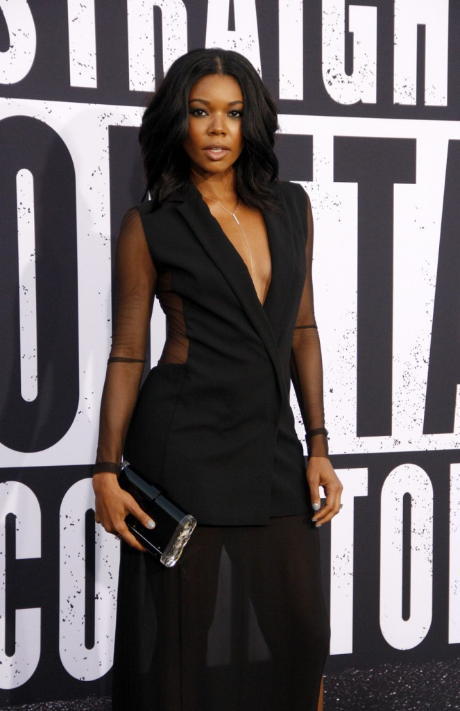 Gabrielle Union at the Los Angeles premiere of 'Straight Outta Compton'