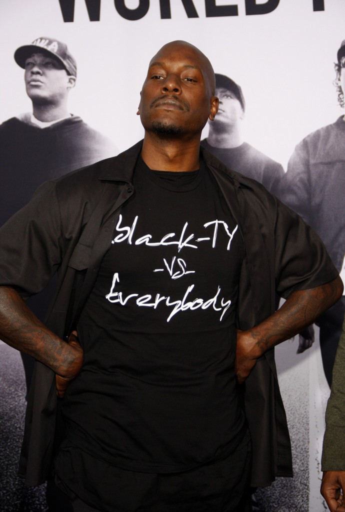 Tyrese Gibson at the Los Angeles premiere of 'Straight Outta Compton'