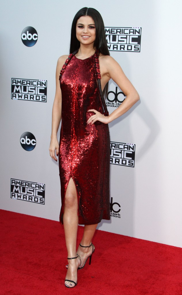 Selena Gomez attends The 2015 American Music Awards in Los Angeles on Sunday, November 22nd, 2015.Photograph: © Pacific Coast News.