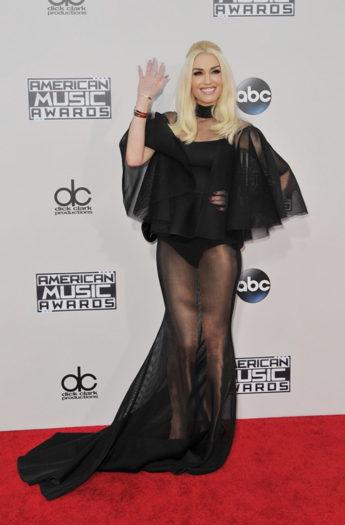 Gwen Stefani attends the 2015 American Music Awards at the Microsoft Theater in LA. Los Angeles, California - Sunday November 22, 2015. Photograph: © Koi Sojer, PacificCoastNews.