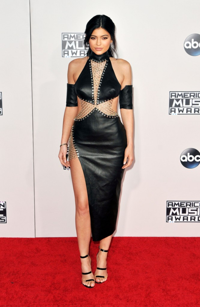 Kendall Jenner and Kylie Jenner attend the 2015 American Music Awards at the Microsoft Theater in LA. Los Angeles, California - Sunday November 22, 2015. Photograph: © Koi Sojer, PacificCoastNews.
