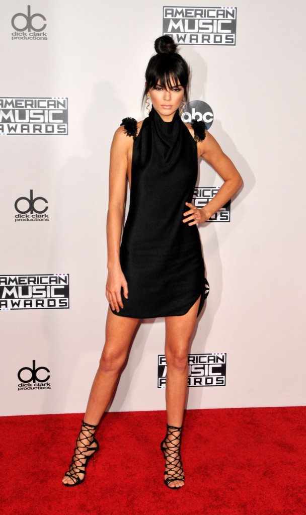 Kendall Jenner attends the 2015 American Music Awards at the Microsoft Theater in LA. Los Angeles, California - Sunday November 22, 2015. Photograph: © Koi Sojer, PacificCoastNews.
