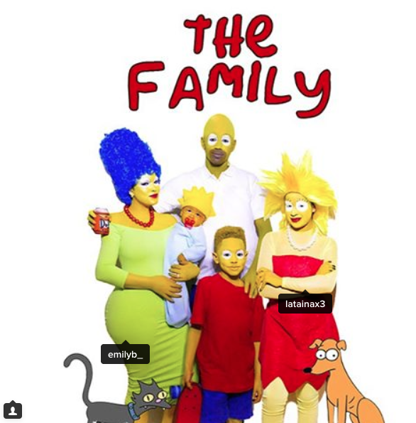 Fabolous and family as The Simpsons