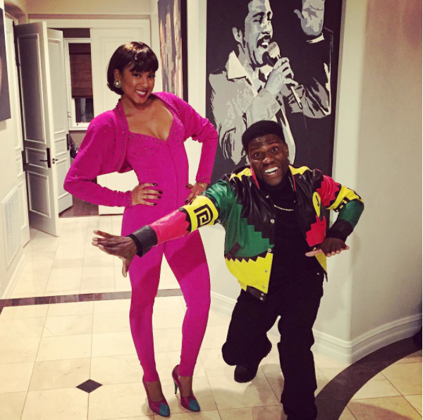 Kevin Hart and fiancée, Eniko as Martin and Gina