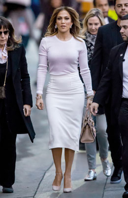 146431, Jennifer Lopez seen at the 'Jimmy Kimmel Live!' show in Hollywood. Los Angeles, California - Monday January 4, 2016. Photograph: PacificCoastNews. Los Angeles Office: +1 310.822.0419 sales@pacificcoastnews.com FEE MUST BE AGREED PRIOR TO USAGE