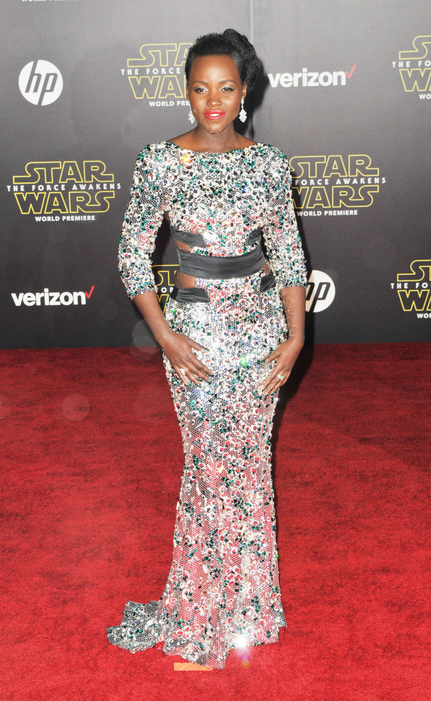 Lupita Nyong'o attends the Star Wars: The Force Awakens world premiere in Hollywood