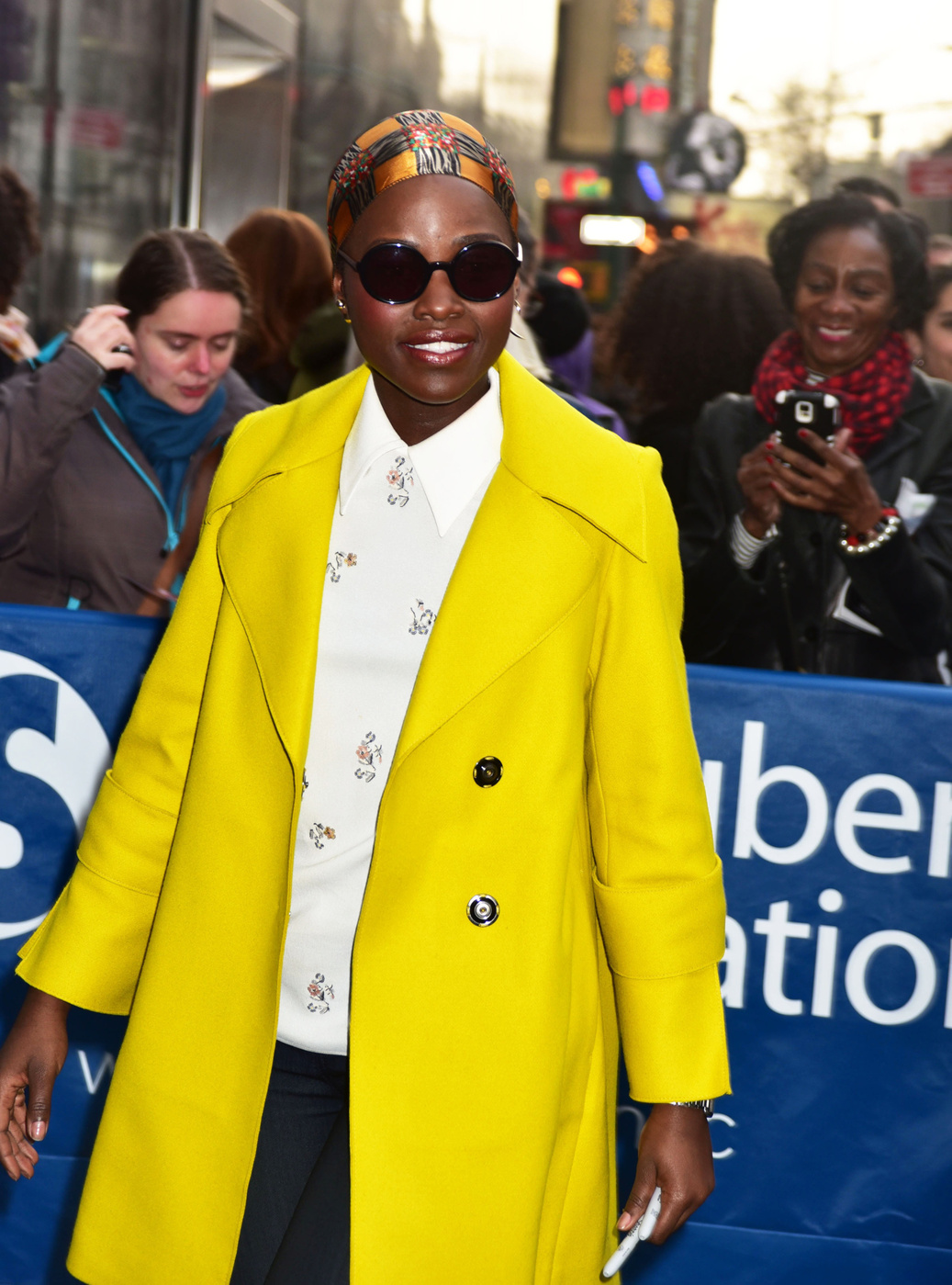 Lupita Nyong'o seen at the John Golden Theatre after appearing on a matinee showing of 'Eclipsed' in NYC