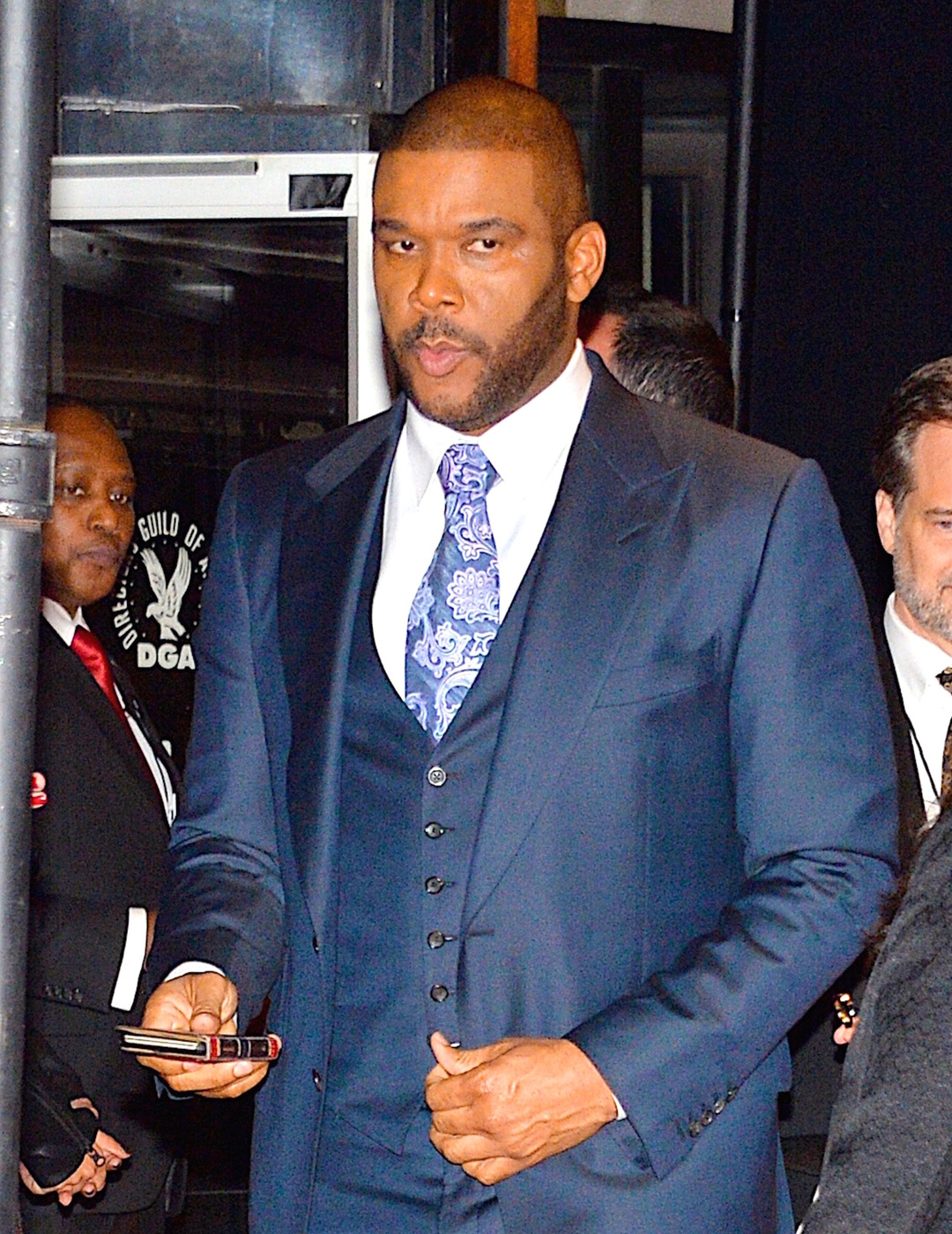 143785, Tyler Perry at the DGA Honors 2015 Gala event in NYC. New York, New York - Thursday October 15, 2015. Photograph: © PacificCoastNews. Los Angeles Office: +1 310.822.0419 sales@pacificcoastnews.com FEE MUST BE AGREED PRIOR TO USAGE