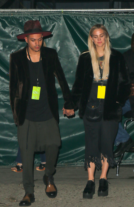 Ashlee Simpson and Evan Ross seen leaving The Satellite Bar after watching a performance by Lady Gaga. Silver Lake, California - Thursday October 27, 2016.