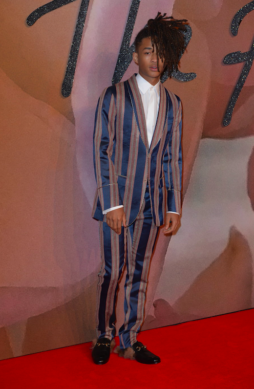 Jaden Smith attends the Fashion Awards 2016 at Royal Albert Hall. London, United Kingdom.