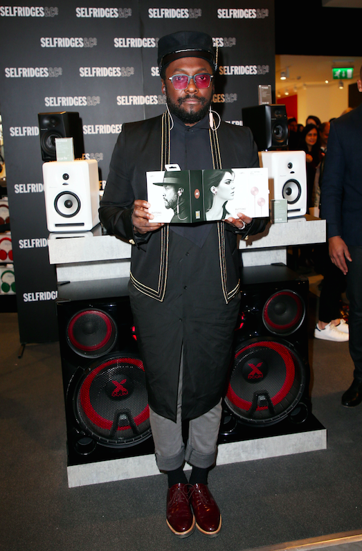 Will.i.am launches new Button Headphones at Selfridges new technology hall in London. London, United Kingdom - Saturday, December 3, 2016