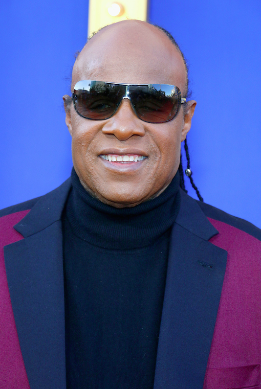 Stevie Wonder at the Los Angeles premiere of 'Sing' held at the Microsoft Theater. Los Angeles, California - Saturday December 3, 2016