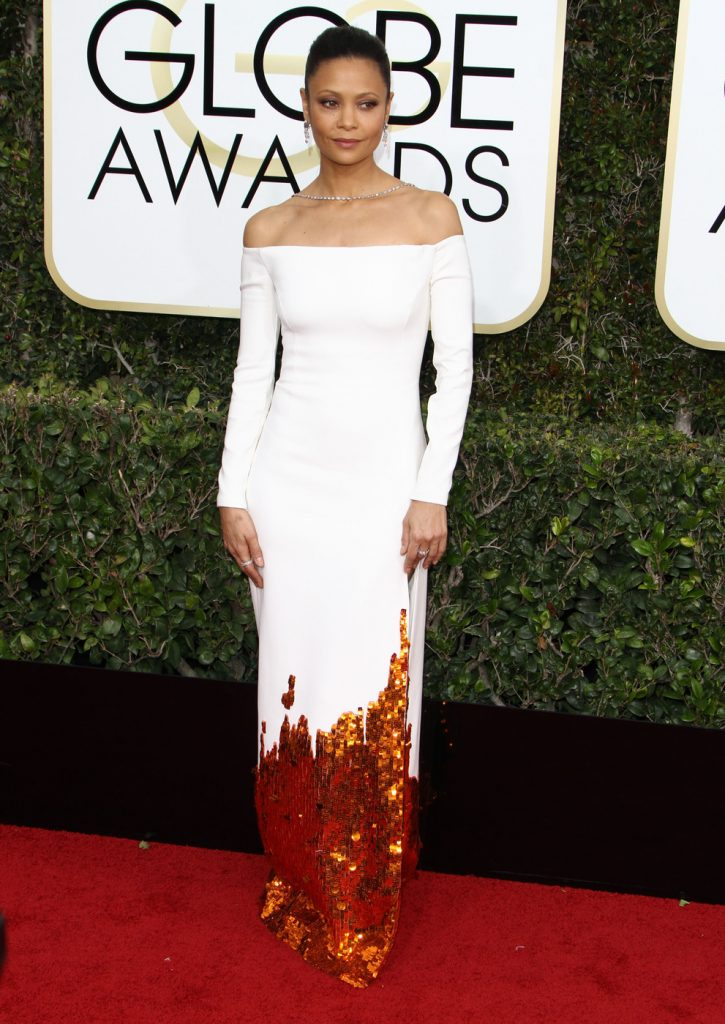 160681, Thandie Newton attends The 74th Annual Golden Globe Awards. Los Angeles, California - Sunday January 8 2017. Photograph: © PacificCoastNews. Los Angeles Office (PCN): +1 310.822.0419 UK Office (Photoshot): +44 (0) 20 7421 6000 sales@pacificcoastnews.com FEE MUST BE AGREED PRIOR TO USAGE