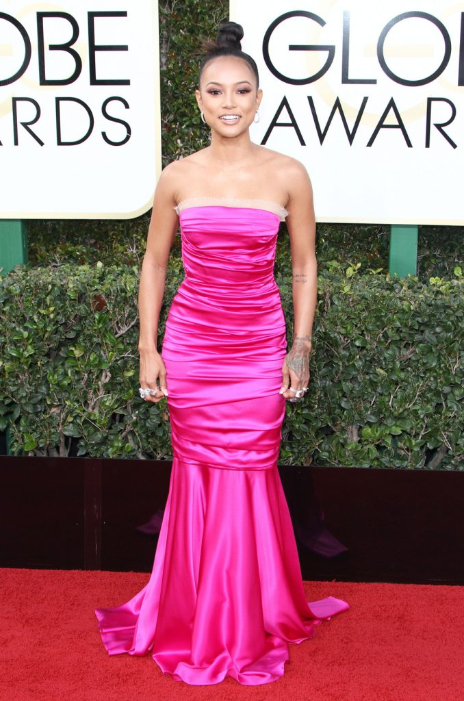 160681, Karrueche Tran attends The 74th Annual Golden Globe Awards. Los Angeles, California - Sunday January 8 2017. Photograph: © PacificCoastNews. Los Angeles Office (PCN): +1 310.822.0419 UK Office (Photoshot): +44 (0) 20 7421 6000 sales@pacificcoastnews.com FEE MUST BE AGREED PRIOR TO USAGE