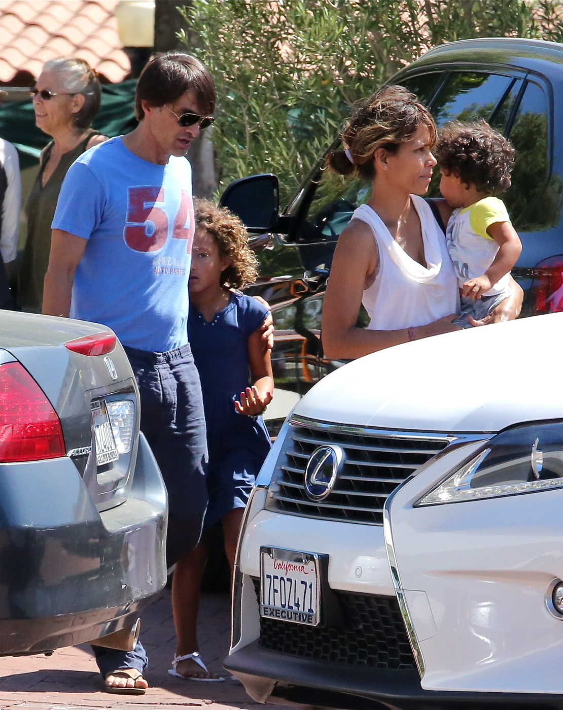 Halle Berry Seen With Husband Olivier Martinez Son Maceo Robert