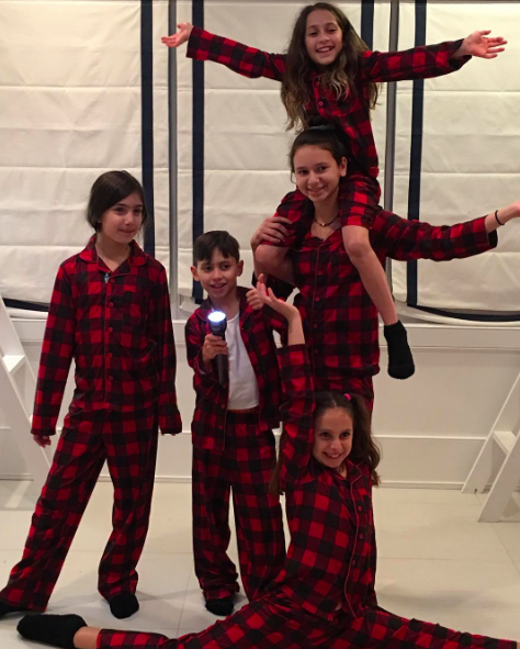 The group started their celebration on Thanksgiving Eve with an epic pajama  party. Rodriguez shared a snapshot of the four kids all wearing matching  red and ... 0b5343fa0