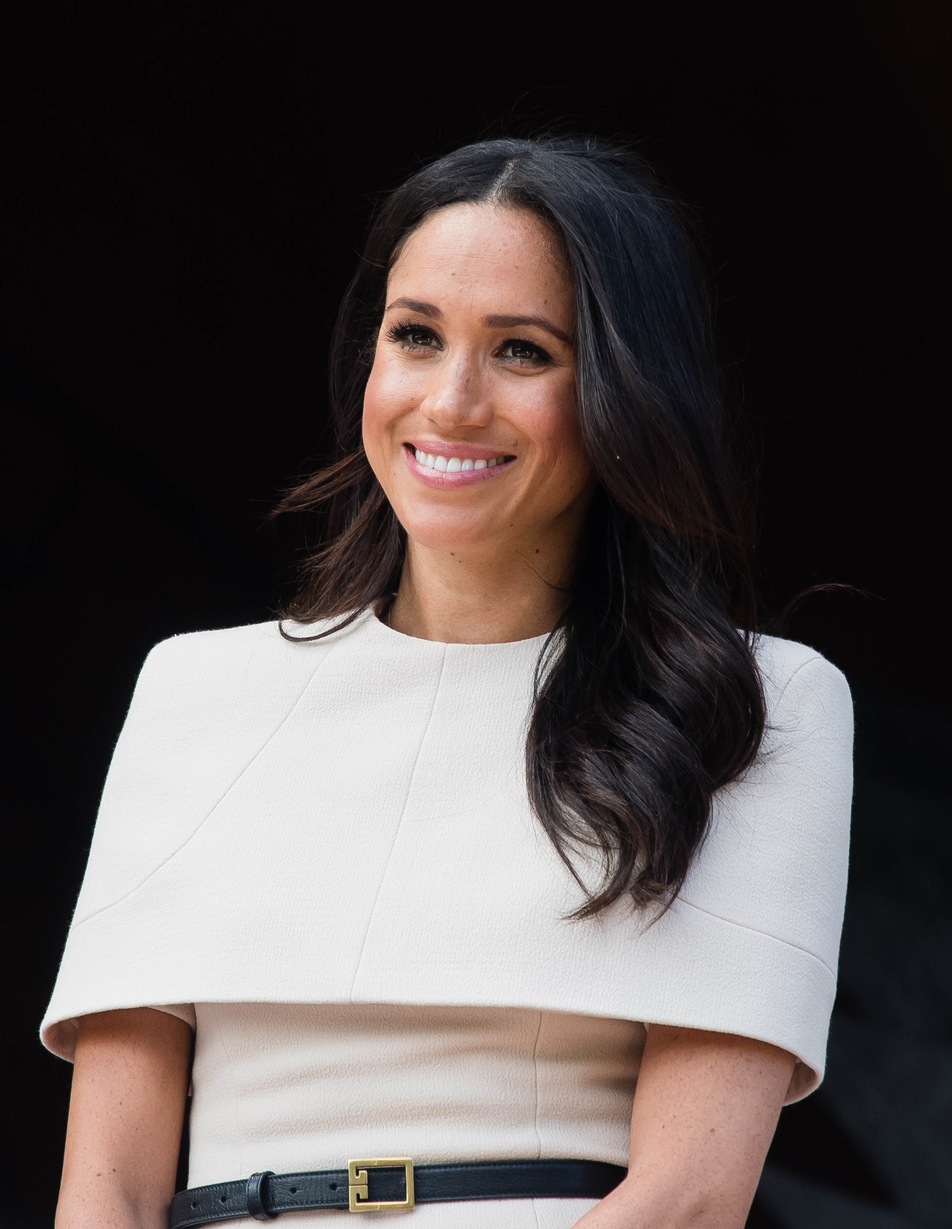 meghan markle stuns in givenchy for day out with the queen hiphollywood https www hiphollywood com 2018 06 meghan markle stuns in givenchy for day out with the queen