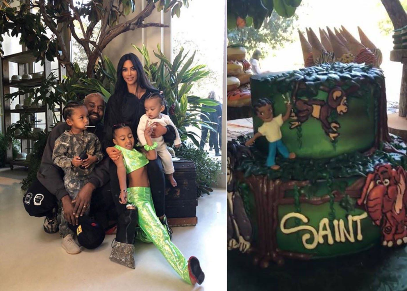 Inside Saint West S Tarzan Themed Birthday Party