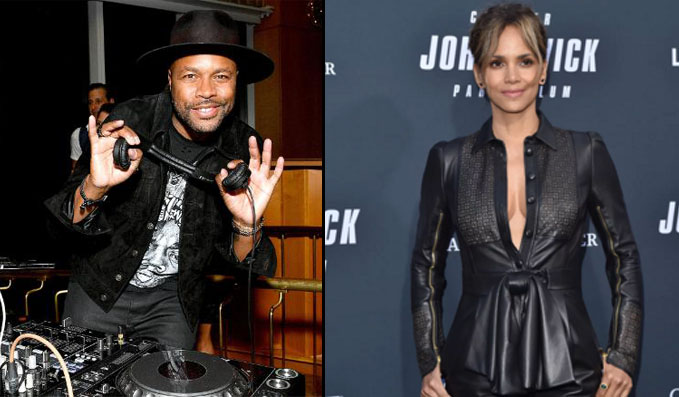 Halle Berry Flirts With DJ D-Nice