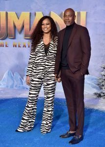 Garcelle Beauvais and boyfriend Michael Elliott at the Jumanji premiere