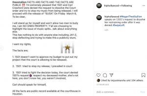 Megan Thee Stallion Statement Regarding Restraining Order