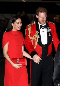Meghan Markle turned heads in red at the Royal Albert Hall in London