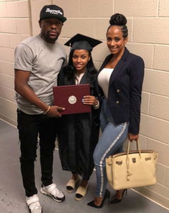 Floyd Mayweather Pictured With Daughter Iyanna and Babymama Melissia Brim