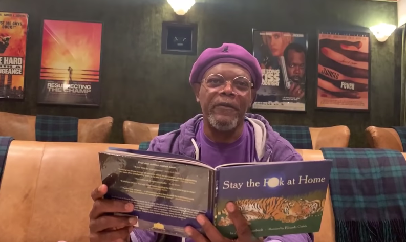 Samuel L. Jackson Reads New Book Stay The F--k At Home On Jimmy Kimmel Live