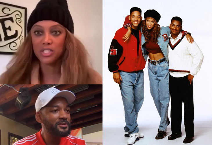 Will Smith And Tyra Banks Re-enact Fresh Prince Of Bel Air Scene
